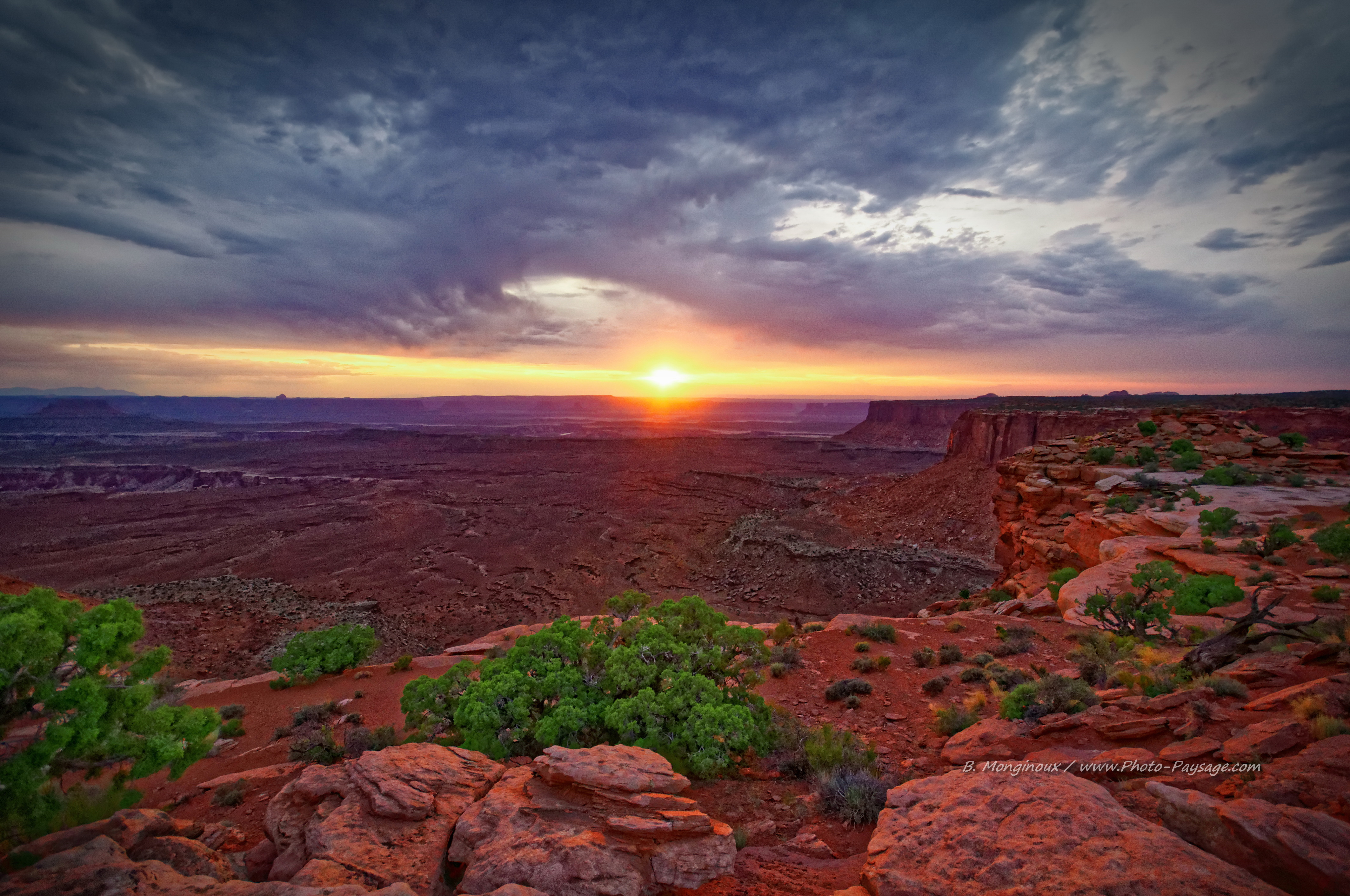 Couchers De Soleil Coucher De Soleil Dans Le Desert De L