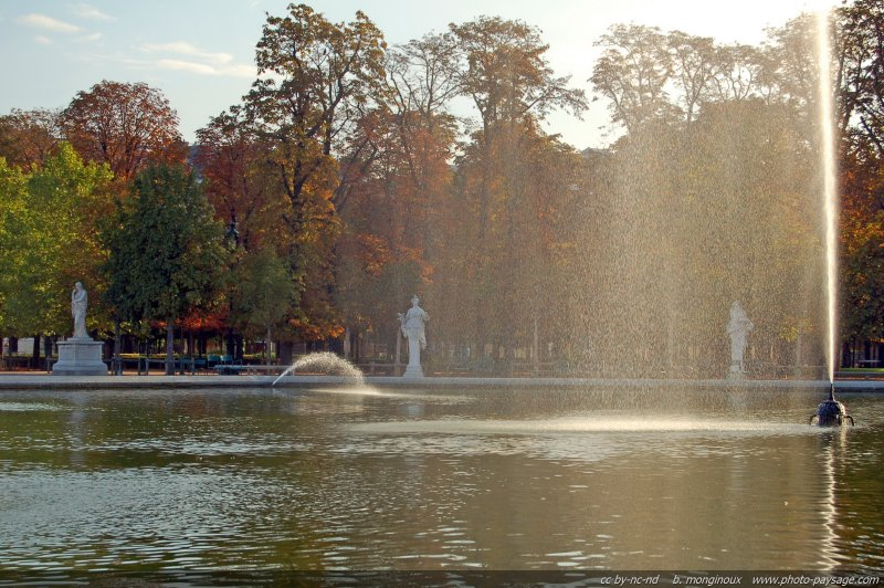 Couleurs d 39 automne dans le jardin des tuileries jardin for Jardin gratuit paris