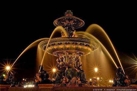 Fontaine sur la place de la concorde