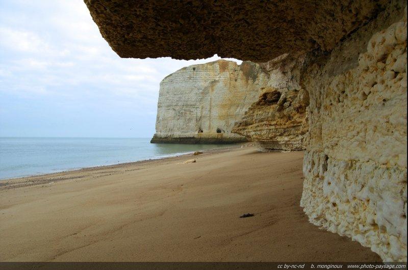 Pointe de la Courtine et plage d'Antifer