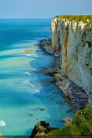 Falaises de Haute Normandie Les beautés du littoral normand. Etretat, Haute-Normandie, France