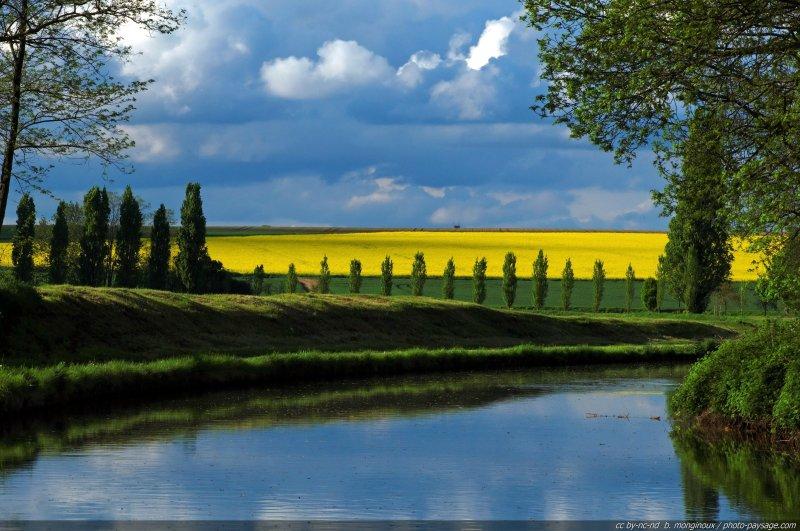 Reflets sur le canal -02 - Canal de l'Ourcq, Seine et Marne