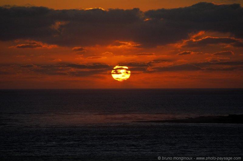 Coucher de soleil au-dessus de l'Océan | Photo-Paysage.com ...