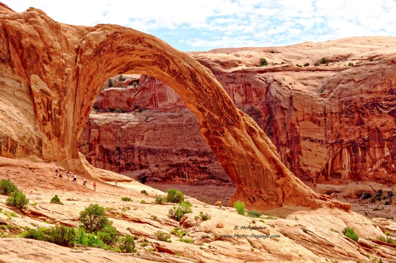 La Corona Arch, une magnifique arche naturelle dans le désert de l'Utah (Moab, Utah, USA)