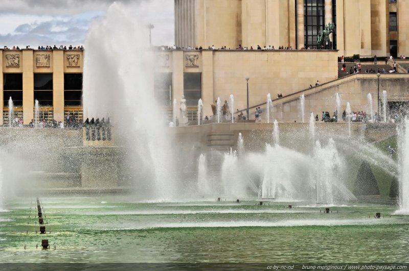 Fontaines du jardin du Trocadéro à Paris