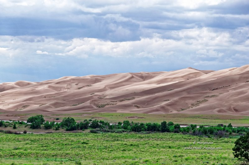 Les dunes de sable du parc national de Great Sand Dunes (Colorado, USA)