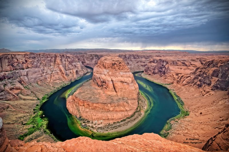Une vue d'ensemble de Horseshoe Bend (Arizona, USA)