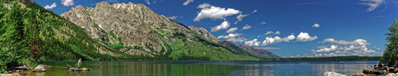 Photo panoramique du Jenny Lake, parc national de Grand Teton, Wyoming, USA