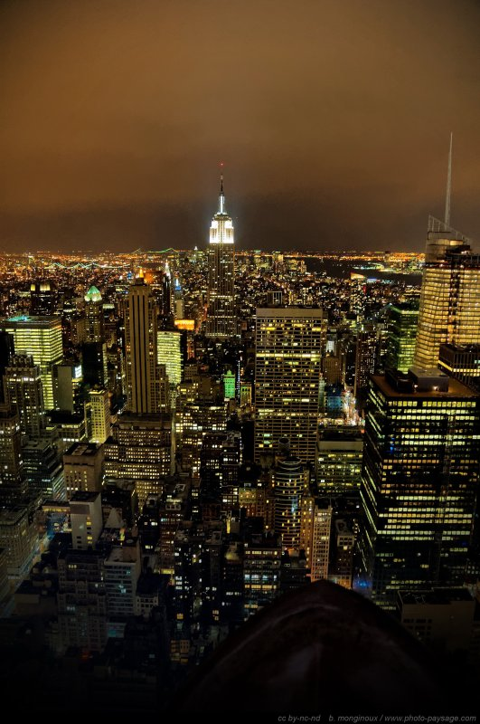New-York by night : l'Empire State Building