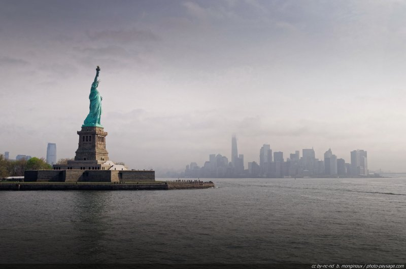 La Statue de la Liberté et le sud de Manhattan