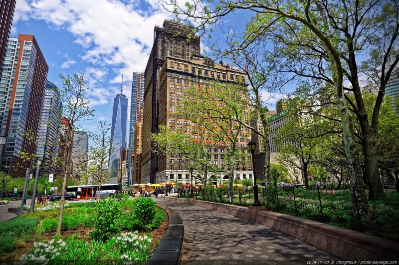Le sud de Manhattan - Battery Park - Manhattan, New-York, USA