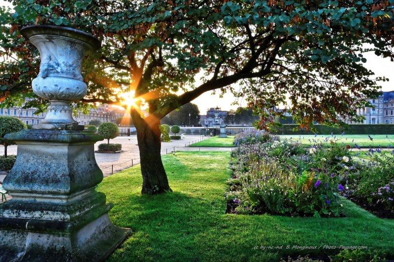 Lever de soleil dans le jardin des tuileries le blog de for Paysage de jardin