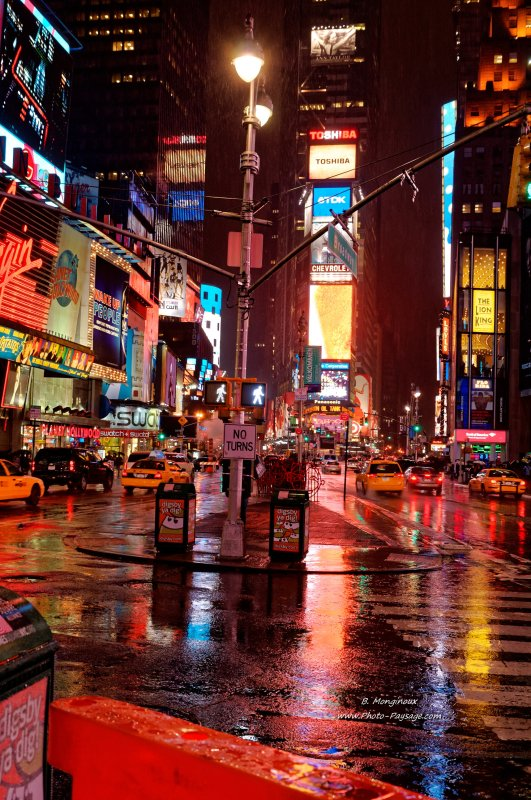 Time Square by night - Manhattan, New York, USA