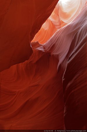 Au fond d'Antelope Canyon