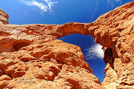 Au pied de la Turret Arch