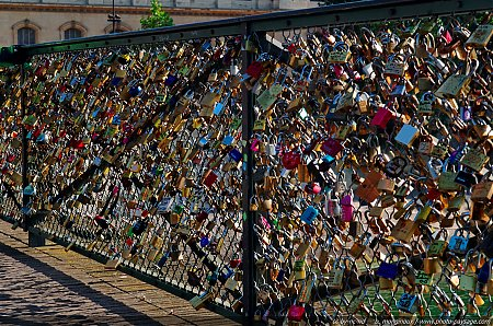 Cadenas sur le Pont des Arts