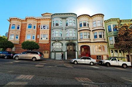 nom du fichier de belles maisons peintes dans les rues de san du fichier. Black Bedroom Furniture Sets. Home Design Ideas