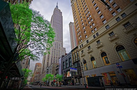 L'Empire State Building vu depuis la 34° rue ouest