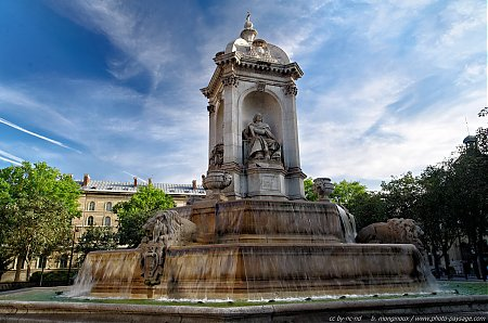 La fontaine de la place Saint Sulpice