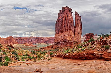 Courthouse towers