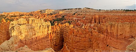 Vue panoramique de Sunset Point au coucher du soleil