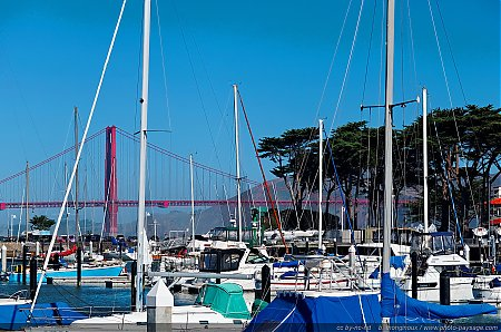 Un port de plaisance dans la baie de San Francisco
