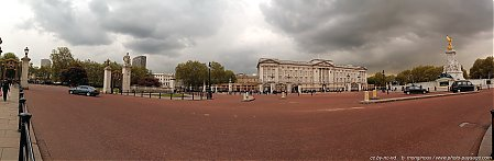 Vue panoramique de Buckingham Palace et du Victoria Memorial