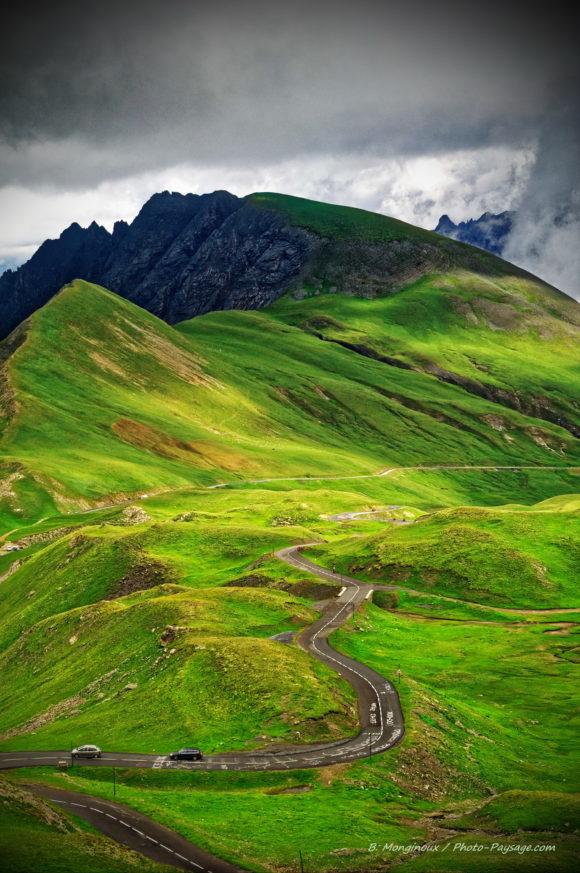 Fond d'écran route montagne Alpes - col du Galibier